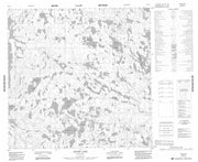 064O01 Adair Lake Canadian topographic map, 1:50,000 scale from Manitoba Map Store