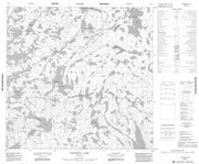 064O03 Canfield Lake Canadian topographic map, 1:50,000 scale from Manitoba Map Store
