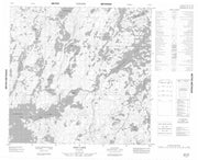 064O04 Doig Lake Canadian topographic map, 1:50,000 scale from Manitoba Map Store