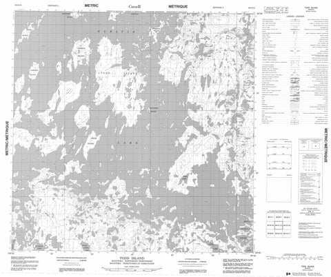 064O13 Todd Island Canadian topographic map, 1:50,000 scale