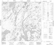 064O14 Lowry Lake Canadian topographic map, 1:50,000 scale from Manitoba Map Store