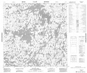 064O15 Blevins Lake Canadian topographic map, 1:50,000 scale from Manitoba Map Store