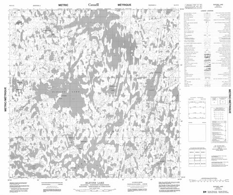 064O15 Blevins Lake Canadian topographic map, 1:50,000 scale