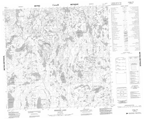 064P01 Hebner Lake Canadian topographic map, 1:50,000 scale