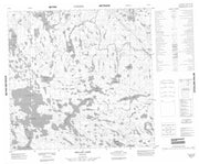 064P03 Sellar Lake Canadian topographic map, 1:50,000 scale from Manitoba Map Store