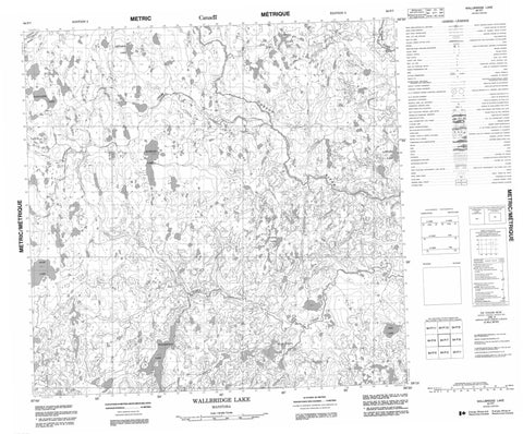 064P07 Wallbridge Lake Canadian topographic map, 1:50,000 scale