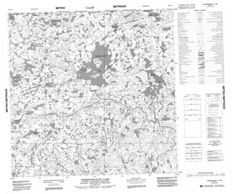 064P14 Commonwealth Lake Canadian topographic map, 1:50,000 scale