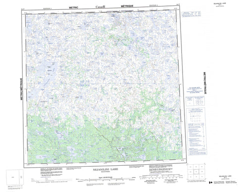 064P Nejanilini Lake Canadian topographic map, 1:250,000 scale