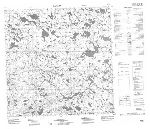 065A02 No Title Canadian topographic map, 1:50,000 scale