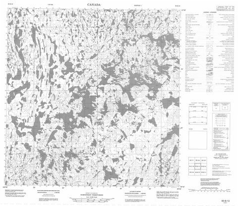 065B13 No Title Canadian topographic map, 1:50,000 scale