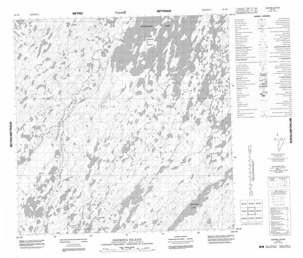065D03 Deering Island Canadian topographic map, 1:50,000 scale