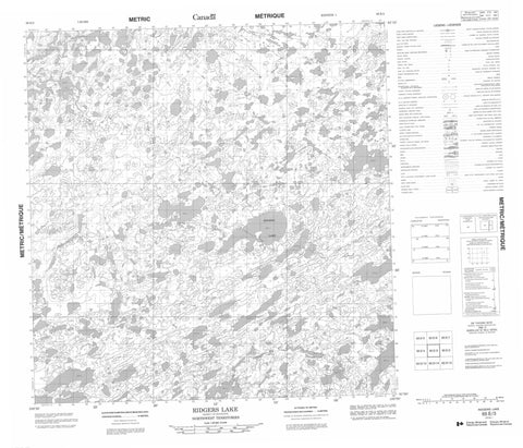 065E03 Ridgers Lake Canadian topographic map, 1:50,000 scale