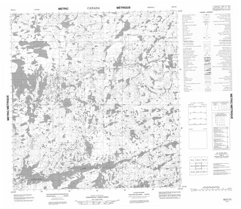 065E13 No Title Canadian topographic map, 1:50,000 scale