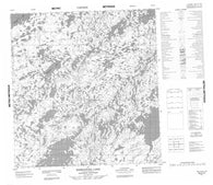 065E15 Enekatcha Lake Canadian topographic map, 1:50,000 scale