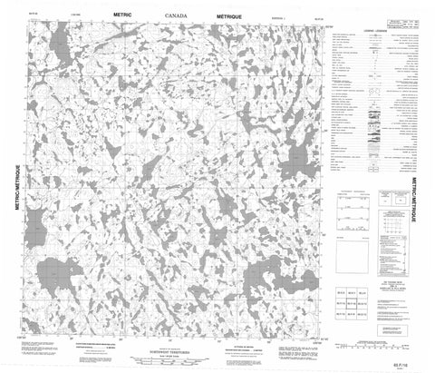 065F16 No Title Canadian topographic map, 1:50,000 scale