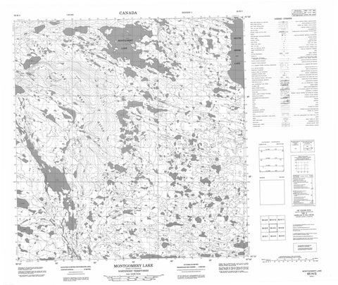 065H05 Montgomery Lake Canadian topographic map, 1:50,000 scale