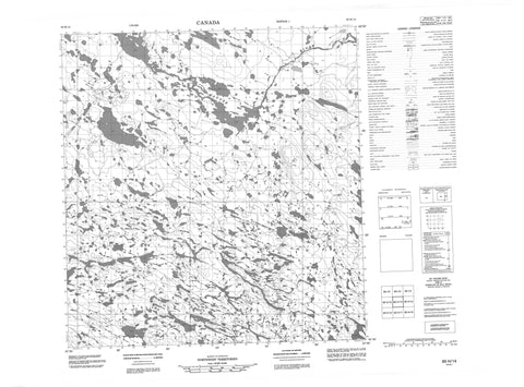 065H14 No Title Canadian topographic map, 1:50,000 scale