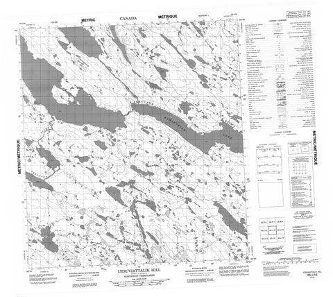 065I16 Utsuviattalik Hill Canadian topographic map, 1:50,000 scale