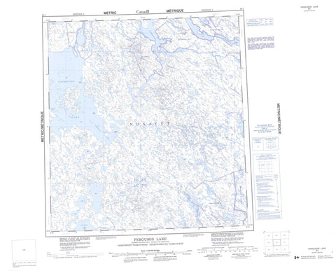 065I Ferguson Lake Canadian topographic map, 1:250,000 scale