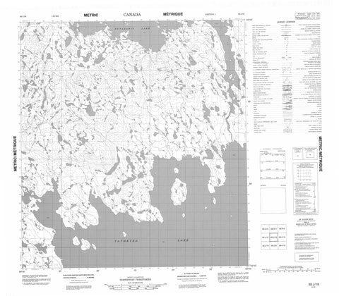 065J16 No Title Canadian topographic map, 1:50,000 scale