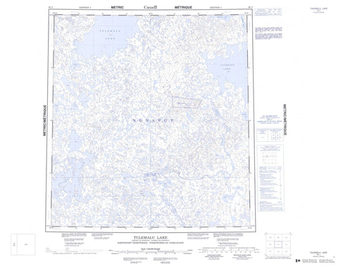065J Tulemalu Lake Canadian topographic map, 1:250,000 scale