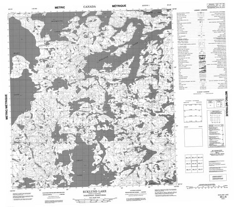 065L06 Ecklund Lake Canadian topographic map, 1:50,000 scale