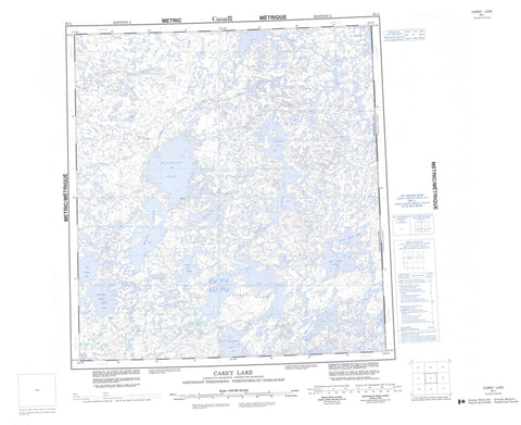 065L Carey Lake Canadian topographic map, 1:250,000 scale