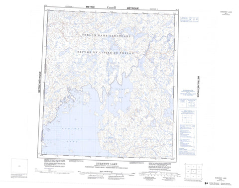 065N Dubawnt Lake Canadian topographic map, 1:250,000 scale