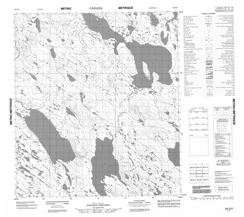 065O09 No Title Canadian topographic map, 1:50,000 scale