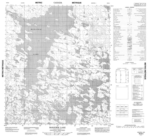 066B03 Marjorie Lake Canadian topographic map, 1:50,000 scale
