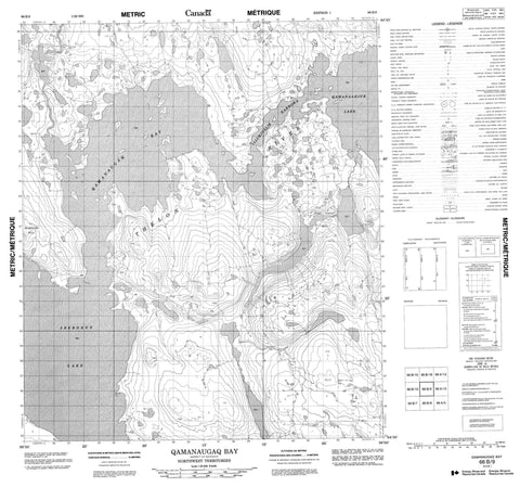 066B09 Qamanaugaq Bay Canadian topographic map, 1:50,000 scale
