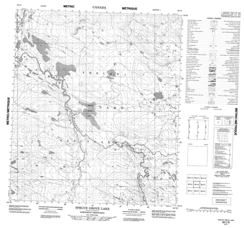 066C06 Spruce Grove Lake Canadian topographic map, 1:50,000 scale