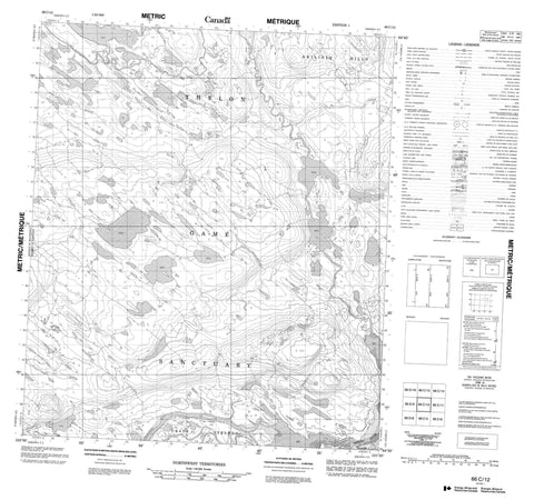 066C12 No Title Canadian topographic map, 1:50,000 scale