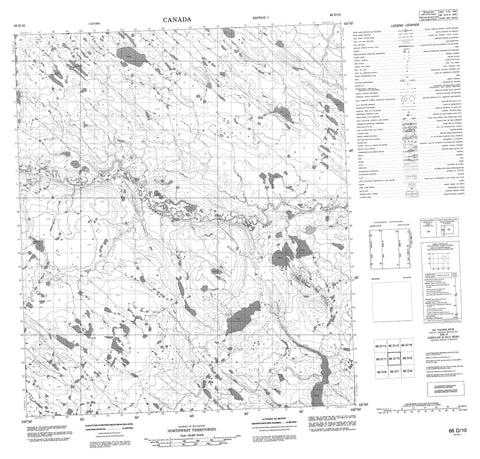 066D10 No Title Canadian topographic map, 1:50,000 scale