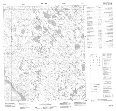 066D12 No Title Canadian topographic map, 1:50,000 scale