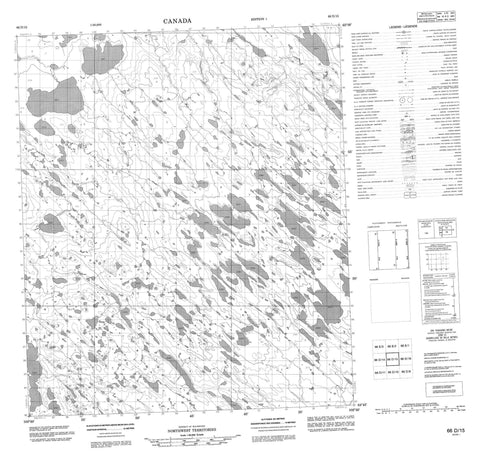066D15 No Title Canadian topographic map, 1:50,000 scale