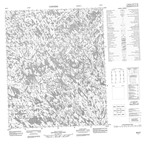 066E07 No Title Canadian topographic map, 1:50,000 scale