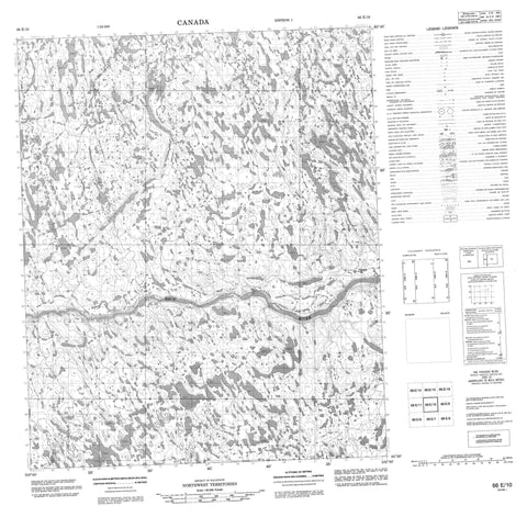 066E10 No Title Canadian topographic map, 1:50,000 scale