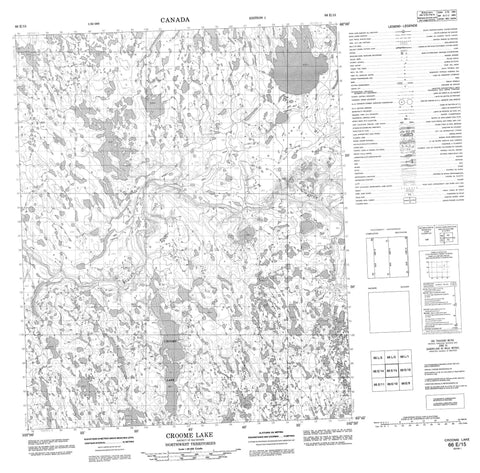 066E15 Croome Lake Canadian topographic map, 1:50,000 scale