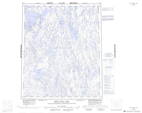 066G Deep Rose Lake Canadian topographic map, 1:250,000 scale