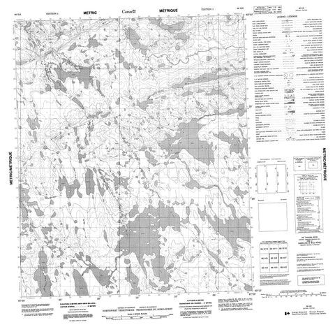 066H06 No Title Canadian topographic map, 1:50,000 scale