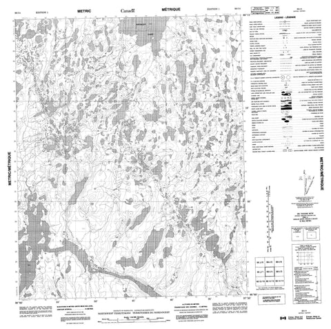 066I04 No Title Canadian topographic map, 1:50,000 scale