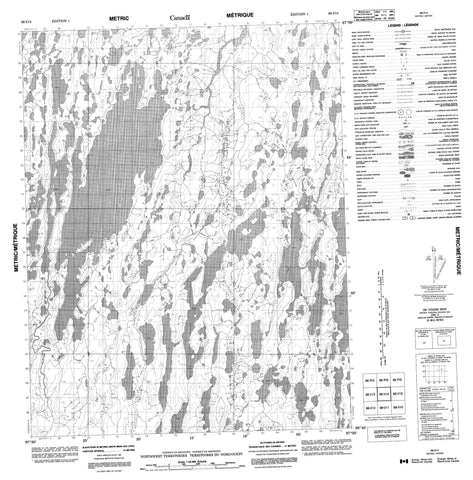 066I14 No Title Canadian topographic map, 1:50,000 scale
