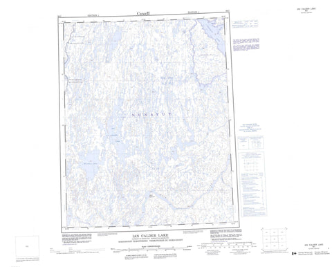 066I Ian Calder Lake Canadian topographic map, 1:250,000 scale