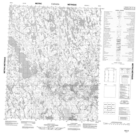 066K03 No Title Canadian topographic map, 1:50,000 scale