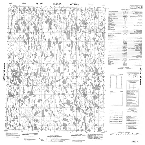 066K16 No Title Canadian topographic map, 1:50,000 scale