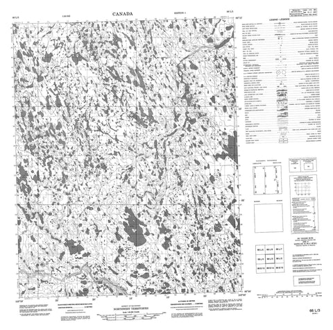 066L03 No Title Canadian topographic map, 1:50,000 scale