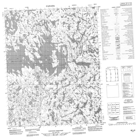066L08 No Title Canadian topographic map, 1:50,000 scale