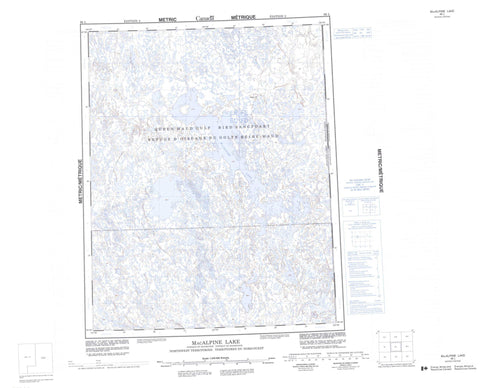066L Macalpine Lake Canadian topographic map, 1:250,000 scale