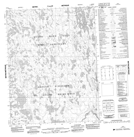 066M01 No Title Canadian topographic map, 1:50,000 scale
